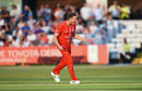 James Faulkner celebrates a Lancashire wicket, Derbyshire v Lancashire, Vitality Blast, Derby, July 12, 2018