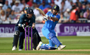 Shikhar Dhawan gets down on a knee to play the pull, England v India, 1st ODI, Nottingham, July 12, 2018