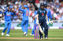 Eoin Morgan chipped a catch to midwicket, England v India, 1st ODI, Nottingham, July 12, 2018