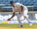 Abu Jayed shapes to throw the ball, West Indies v Bangladesh, 2nd Test, Kingston, 1st day, July 12, 2018
