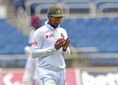 Shakib Al Hasan shines the ball, West Indies v Bangladesh, 2nd Test, Kingston, 1st day, July 12, 2018
