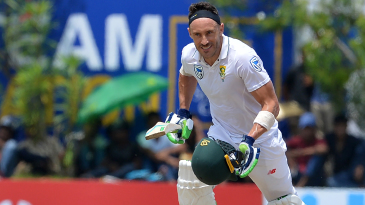 Faf du Plessis sets off for a run