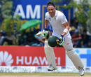 Faf du Plessis sets off for a run, Sri Lanka v South Africa, 1st Test, Galle, 2nd day, July 13, 2018