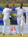 Kagiso Rabada gets a high-five from Vernon Philander, Sri Lanka v South Africa, 1st Test, Galle, 3rd day, July 14, 2018