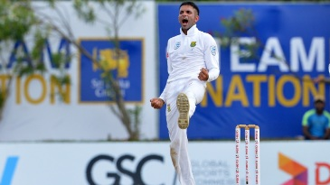 Keshav Maharaj gets a breakthrough for the visitors