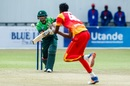 Babar Azam punches one back, Zimbabwe v Pakistan, 1st ODI, Bulawayo, July 13, 2018
