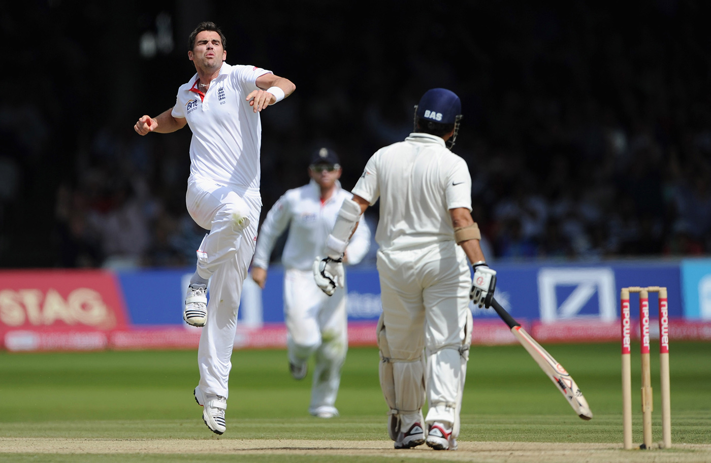 You're no legend to me: Anderson gets Tendulkar in the course of his 5 for 65 at Lord's in 2011