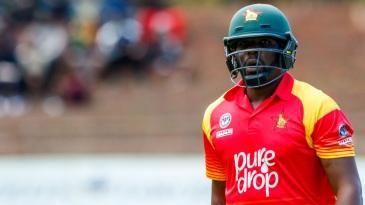 Hamilton Masakadza was dismissed for 7