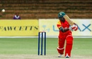 Tarisai Musakanda punches through the off side, Zimbabwe v Pakistan, 1st ODI, Bulawayo, July 13, 2018