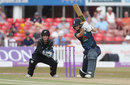 Amy Jones drives down the ground, England v New Zealand, 3rd Women's ODI, Leicester