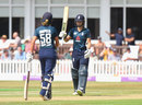 Amy Jones brings up her fifty, England v New Zealand, 3rd Women's ODI, Leicester