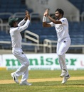 Mehidy Hasan completed a five-for on the second morning, West Indies v Bangladesh, 2nd Test, Jamaica, 2nd day, July 13, 2018
