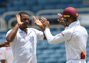 Shannon Gabriel celebrates a wicket, West Indies v Bangladesh, 2nd Test, Jamaica, 2nd day, July 13, 2018