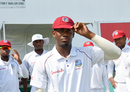 Debutant Keemo Paul dons his newly minted Test cap, West Indies v Bangladesh, 2nd Test, Jamaica, 2nd day, July 13, 2018