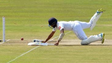 Roshen Silva puts in a dive