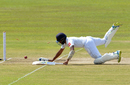 Roshen Silva puts in a dive, Sri Lanka v South Africa, 1st Test, Galle, 3rd day, July 14, 2018