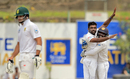 Dilruwan Perera gets a hug from Niroshan Dickwella, Sri Lanka v South Africa, 1st Test, Galle, 3rd day, July 14, 2018