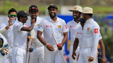 Dilruwan Perera led Sri Lanka's charge with the ball
