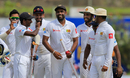 Dilruwan Perera led Sri Lanka's charge with the ball, Sri Lanka v South Africa, 1st Test, Galle, 3rd day, July 14, 2018