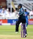Joe Root executes a paddle down the leg side, England v India, 2nd ODI, Lord's, July 14, 2018