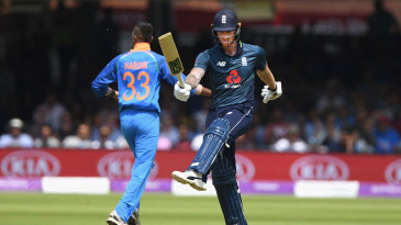Ben Stokes was frustrated after edging behind