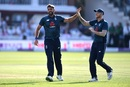 Liam Plunkett celebrates Hardik Pandya's wicket, England v India, 2nd ODI, Lord's, July 14, 2018