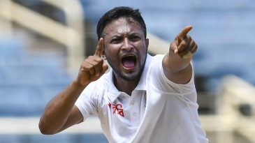 Shakib Al Hasan had a productive third morning
