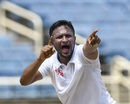 Shakib Al Hasan had a productive third morning, West Indies v Bangladesh, 2nd Test, Jamaica, 3rd day, July 14, 2018