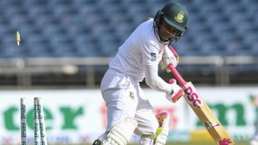 Mushfiqur Rahim gets bowled