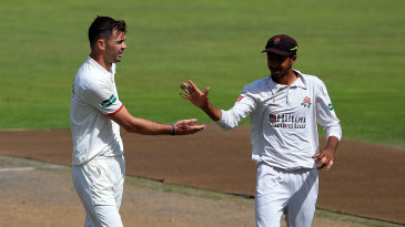 James Anderson was back in action with Lancashire's 2nd XI