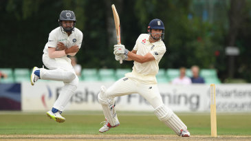 Alastair Cook cuts through point