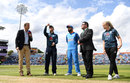 Eoin Morgan tosses the coin, England v India, 3rd ODI, Headingley, July 17, 2018