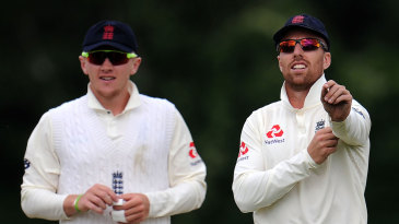 Dom Bess and Jack Leach in action for England Lions