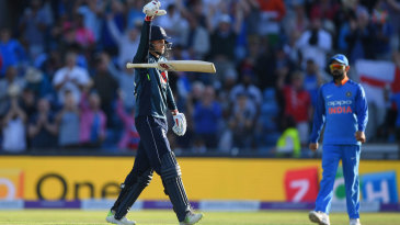 Joe Root's 'bat drop' celebration provoked a ribbing from his team-mates