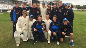 England U-19s celebrate their series victory