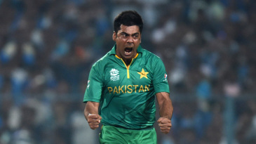 The last (international) comeback? Sami celebrates a wicket against India in the 2016 World T20