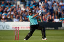 Aaron Finch in typically aggressive mood, Sussex v Surrey, Vitality Blast, Hove, July 13, 2018
