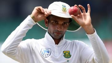Keshav Maharaj registered the best figures for an SA bowler outside home