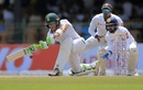 Faf du Plessis stretches out for a sweep, Sri Lanka v South Africa, 2nd Test, SSC, 2nd day, July 21, 2018