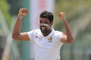 Dilruwan Perera celebrates a wicket, Sri Lanka v South Africa, 2nd Test, SSC, 2nd day, July 21, 2018
