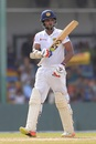 Danushka Gunathilaka raises his bat after bringing up a fifty, Sri Lanka v South Africa, 2nd Test, SSC, 2nd day, July 21, 2018