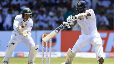 Angelo Mathews chops through point