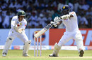 Angelo Mathews chops through point, Sri Lanka v South Africa, 2nd Test, SSC, 3rd day, July 22, 2018