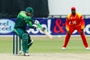 Imam Ul Haq connects with a square drive, Zimbabwe v Pakistan, 5th ODI, Bulawayo, July 22, 2018
