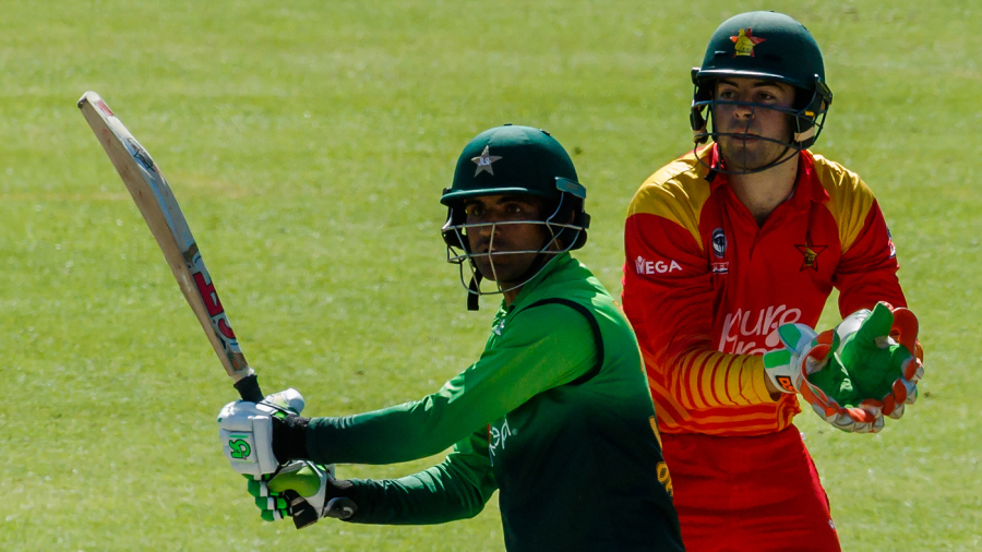 Fakhar Zaman muscles one away