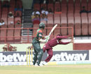 Chris Gayle puts down a touch chance to reprieve Shakib Al Hasan at slip, West Indies v Bangladesh, 1st ODI, Guyana, July 22, 2018