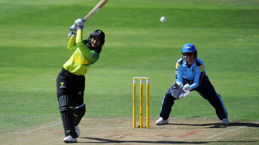 Smriti Mandhana smashes one down the ground