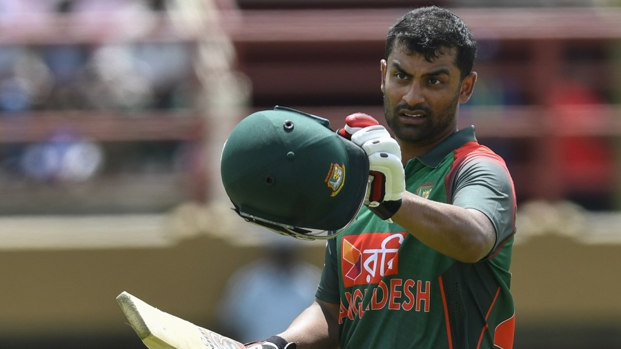 Tamim Iqbal laboured to a century