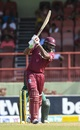 Chris Gayle drives through the covers, West Indies v Bangladesh, 1st ODI, Guyana, July 22, 2018