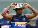 Danushka Gunathilaka before the start of the fourth day's play, Sri Lanka v South Africa, 2nd Test, SSC, 4th day, July 23, 2018
